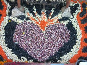 Day of Dead Shrine Corn and Grain Sacred Heart